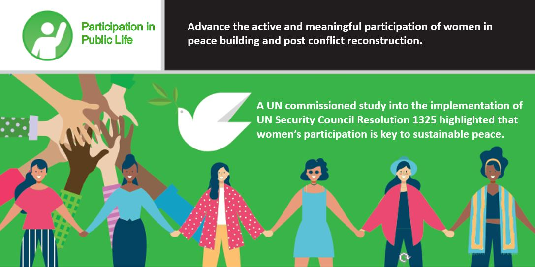 A UN study highlighted that women's participation is key to sustainable peace