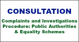 Consultation: Complaints and Investigations Procedure