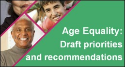 Age equality event: draft policy priorities and recommendations