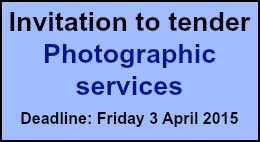 Invitation to tender: photographic services