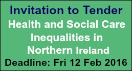 Invitation to tender: Health & Social Care Inequalities in NI
