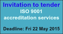 Invitation to tender: ISO 9001 accreditation services