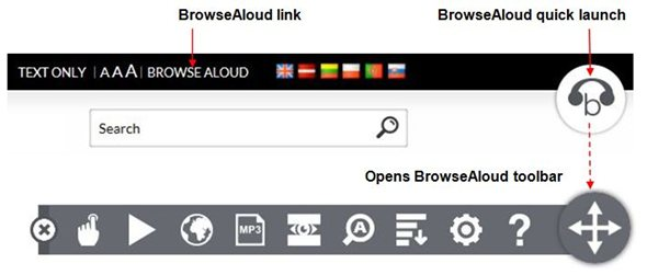 BrowsweAloud Toolbar instructions